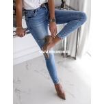 Sinised stretch teksapüksid