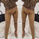 Pruunikad/Camel tooni nahaimitatsiooniga püksid