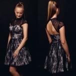 Musta pitsiga skater kleit