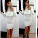Valge volangidega kleit