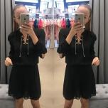 Must kuldse ketiga kleit
