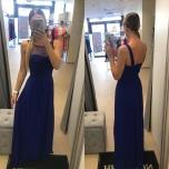 Sinine pikk kleit pluss suurusele