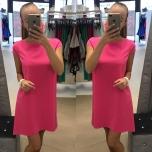 Roosa A-lõikeline kleit