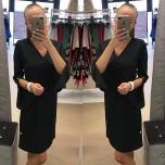 Must A-lõikeline kleit