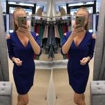 Sinine kolmveerand varrukaga mini kleit