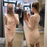 Heleroosa pitsist mini kleit