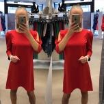 Punane A-lõikeline kleit