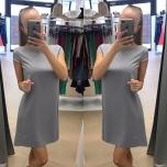 Hall lühikese varrukaga kleit
