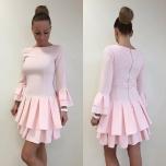 Heleroosa volang varrukaga kleit