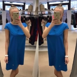Sinine A-lõikeline kleit