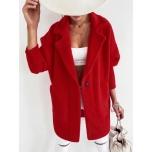 Punane pehme jakk
