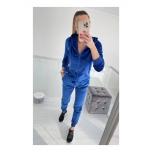 Sinine veluurist dressikomplekt