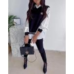 Must kudumkomplekt( kampsun/pluus ja püksid)