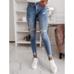 Sinised katkised stretch teksapüksid( push up)