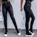 Mustad nahksed püksid