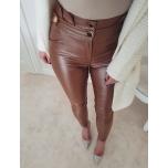Pruunid nahaimitatsiooniga püksid