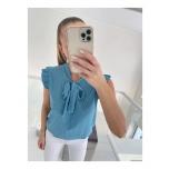 Sinine lipsuga täpiline pluus