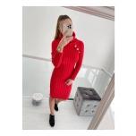 Punane nööpidega kampsun/kleit