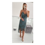Sinikas/Hall A-sümmeetriline kleit