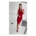 Punane pidulik midi kleit