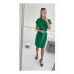 Roheline vööga kleit