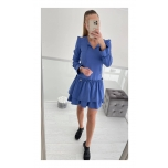 Sinine kahe satsiga vabalt langev kleit