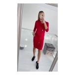 Punane kraega casual kleit