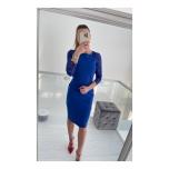 Sinine midi kleit pitsist varrukaga
