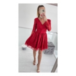 Punane pitsist skater kleit