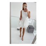 Valge kolme satsiga kleit