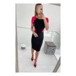 Coral/Mustaga midi kleit