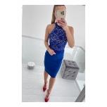 Sinine pitsiga midi kleit