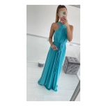 Türkiissinine pikk kleit