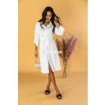 Valge kleit vööga