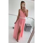 Aprikoosi tooni pikk kleit(kaasas vöö)