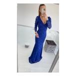 Sinine pitsist pikk kleit