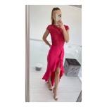Fuksiaroosa  lõhikuga kleit