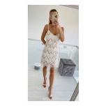 Valge litter/narmastega kleit