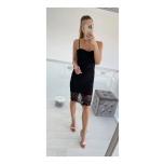 Must bandage ja pitsiga kleit