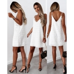 Valge õlapaeltega kleit