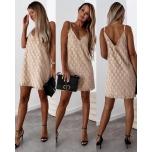 Beez õlapaeltega kleit