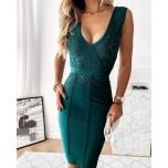 Roheline bandage kleit