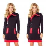 Musta/Punasega kleit