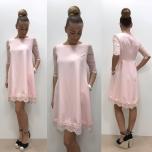 Heleroosa A-lõikeline kleit,taskutega