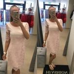 Heleroosa lühikese varrukaga A-lõikeline kleit