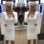 Valge midi kleit