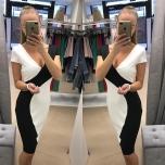 Musta/Valgega midi kleit