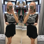 Musta/valgega kleit