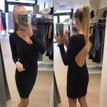 Must sädelev kleit