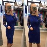 Sinine pikavarrukaga pitsist kleit